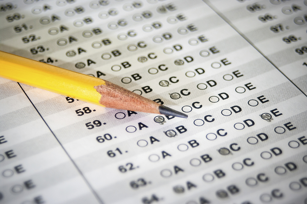 Standardized Test with Pencil