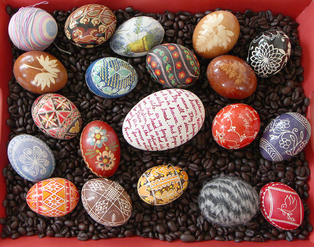 traditional european egg dyeing